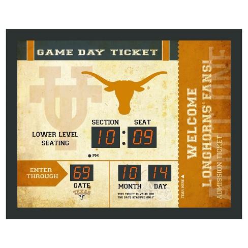 903825861ff7c Texas Longhorns Team Sports America Ticket Stub Bluetooth Scoreboard ...