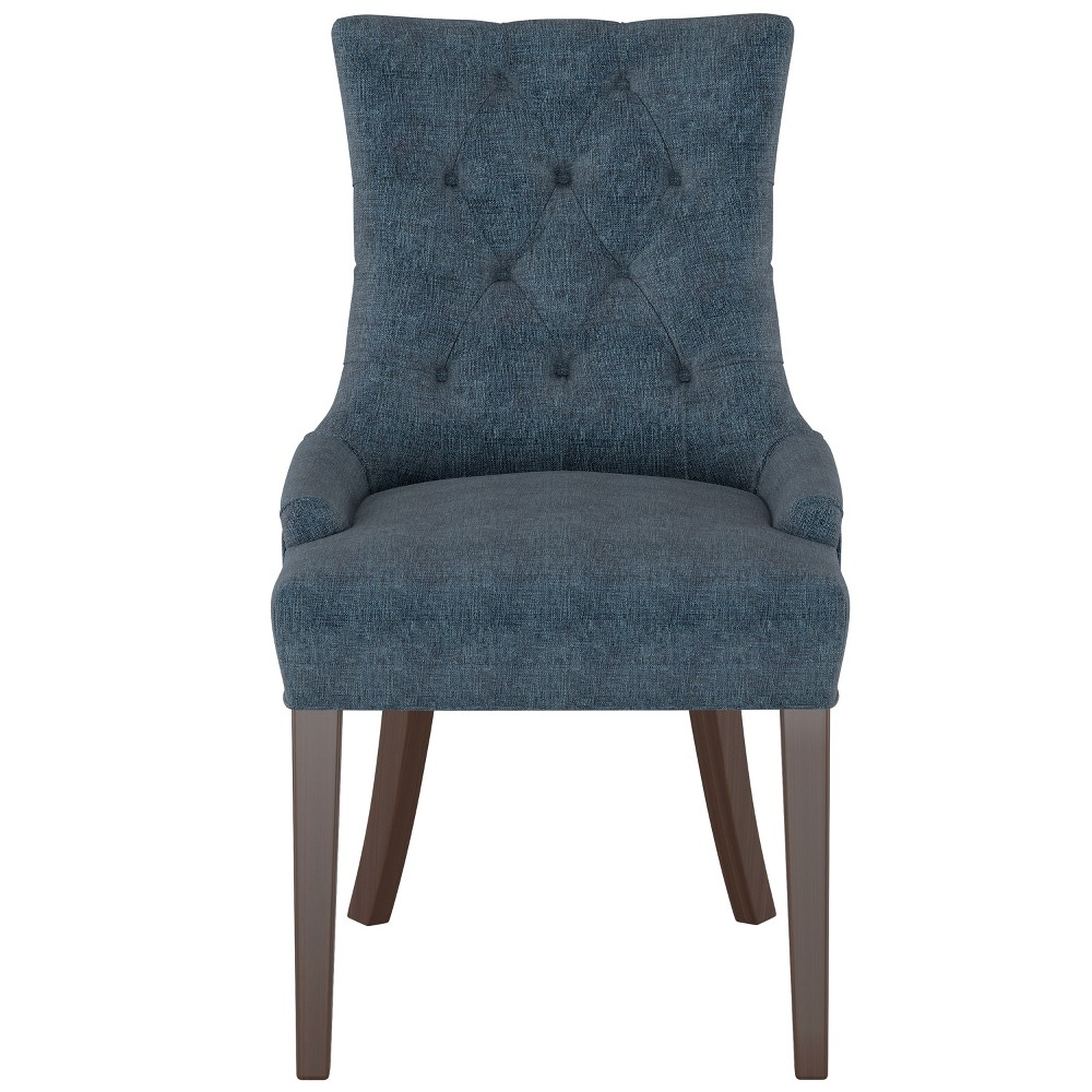Image of English Arm Dining Chair Dark Navy Linen - Threshold