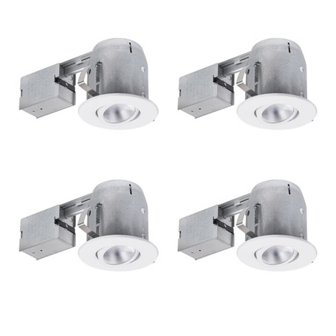"""Globe Electric 90957 Pack of 4 LED Adjustable Round 5"""" Trim and Housing Packages - 3000K - image 1 of 1"""