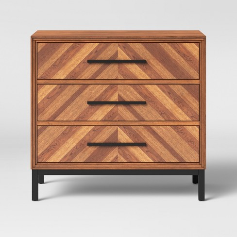 Rochester Parquet 3 Drawer Dresser Brown Threshold
