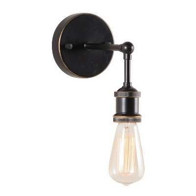 Antique Black Gold and Copper Industrial Wall Lamp - ZM Home