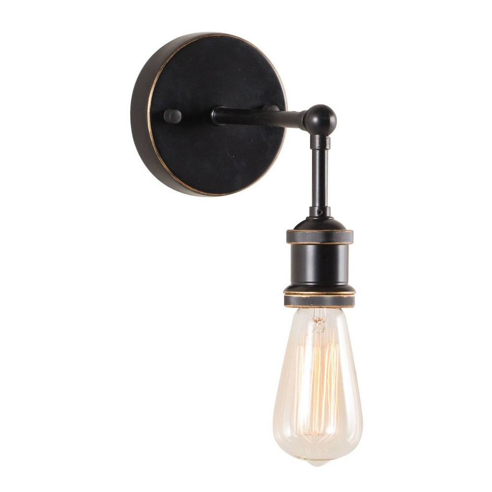 Antique Black Gold And Copper Industrial Wall Lamp Zm Home