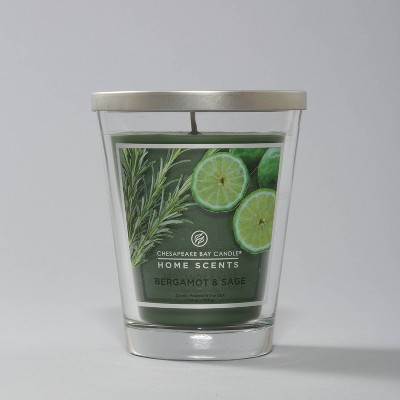 Glass Jar Bergamot Sage Candle - Home Scents by Chesapeake Bay Candle