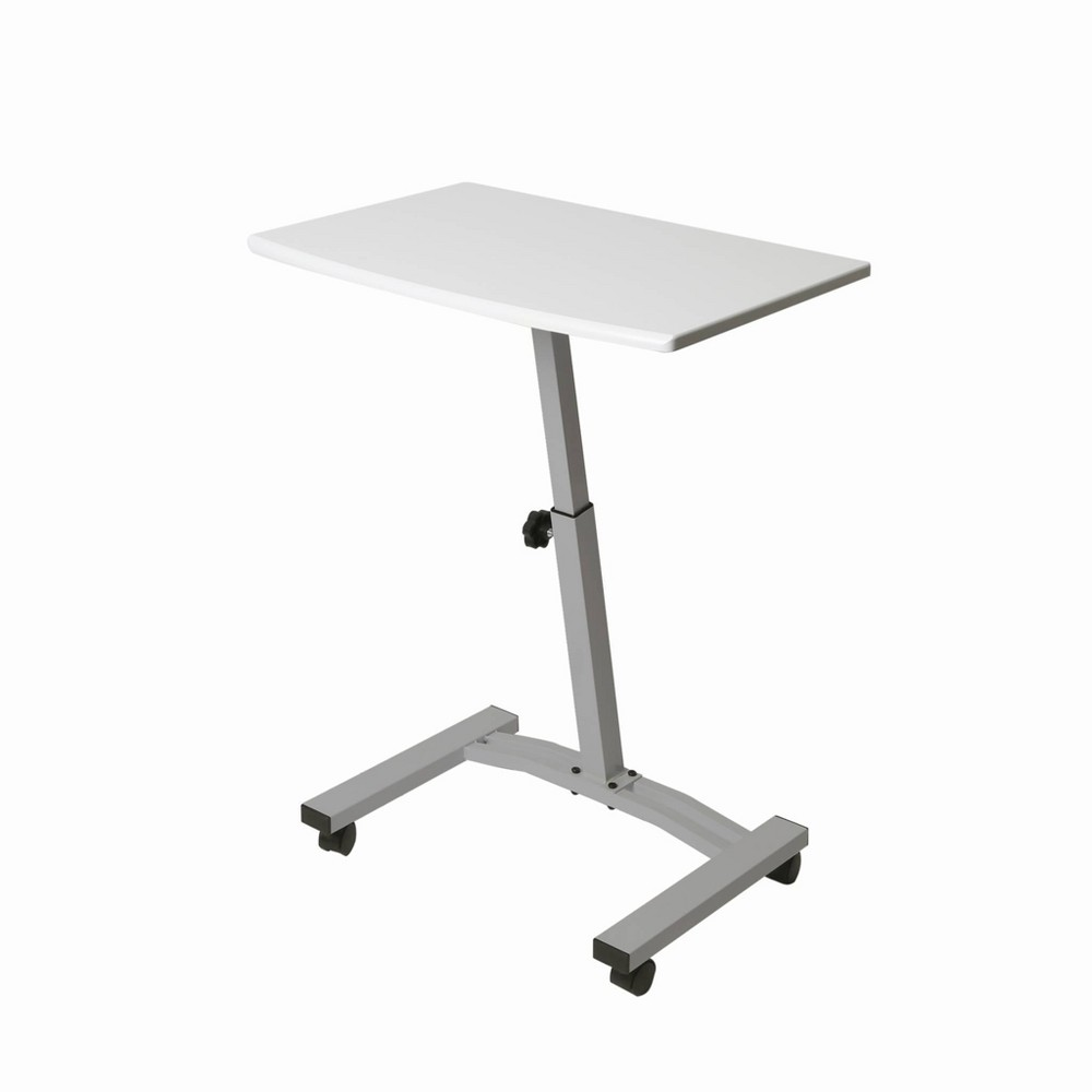 Image of Airlift Mobile Laptop Computer Desk Cart White - Seville Classics