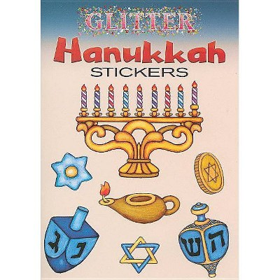 Glitter Hanukkah Stickers - (Glitter Sticker Books) by  Freddie Levin (Paperback)