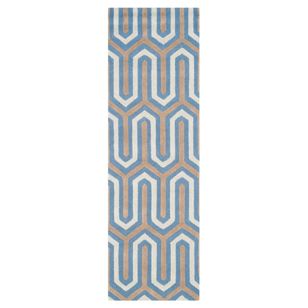 Aveline Textured Rug - Navy/Gray (Blue/Gray) (2'6 X 8') - Safavieh