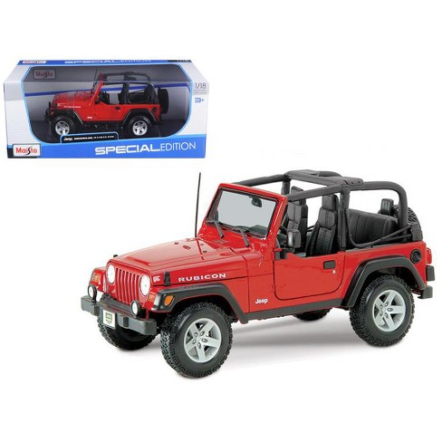 47b454c5907 Jeep Wrangler Rubicon Red 1/18 Diecast Model Car By Maisto : Target