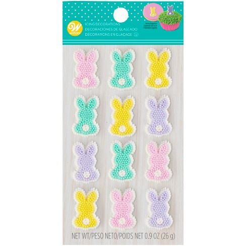Wilton Easter Rabbit Icing Decorations 12ct