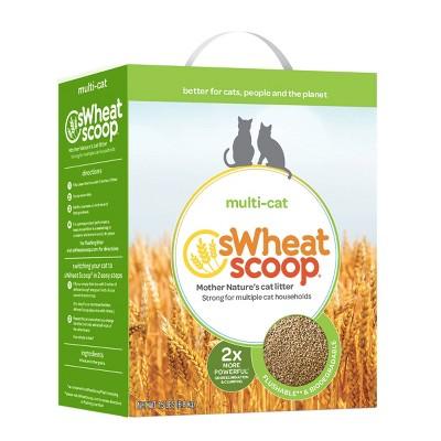 Wheat Scoop Multi-Cat Natural Cat Litter - 15lbs