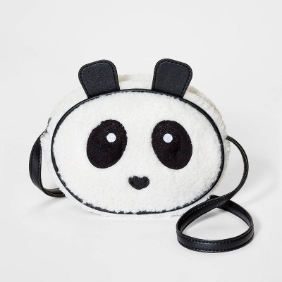 Girls' Panda Crossbody Bag - Cat & Jack™ White