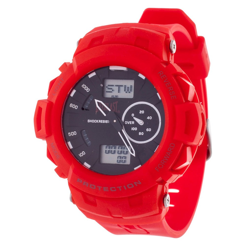 Image of Men's Everlast Analog and Digital Multi Function Watch - Red, Size: Small