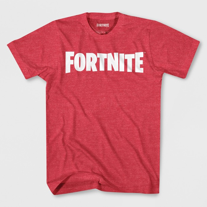 Boys' Fortnite Logo Short Sleeve Graphic T-Shirt - Red - image 1 of 1