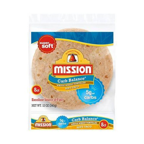 Mission Carb Balance Soft Taco Whole Wheat Tortillas - 8ct - image 1 of 2