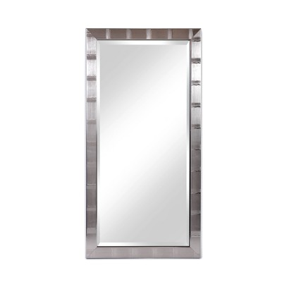 """22"""" x 42"""" Creekside Collection Silver Beveled Glass Wall Mirror Silver - Alpine Art and Mirror"""