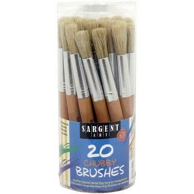 Jumbo Plastic Handle Brushes Cannister 20/Pkg-20 Count