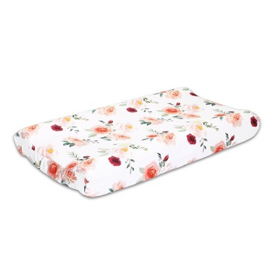 Rose Changing Pad Cover by The Peanutshell