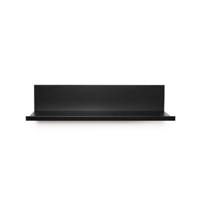 "12"" No Stud Needed Floating Shelf Black - Hangman Products"