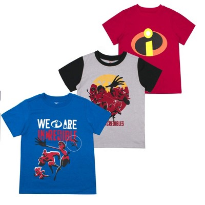 Disney Boy's 3-Pack Graphic Tee Variety for Kids