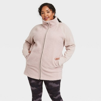 Women's Sherpa Full Zip Long Jacket - All in Motion™