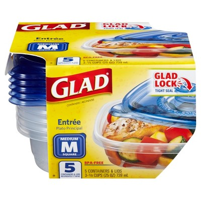 Glad Entree Food Storage Containers - 25oz 5ct