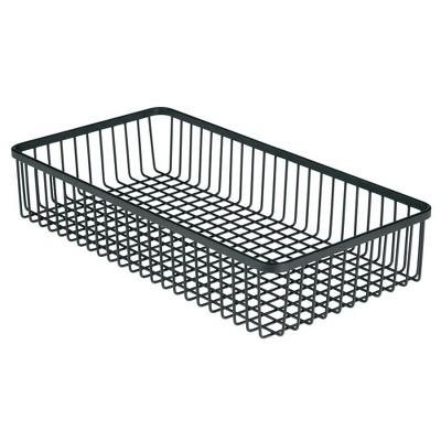 mDesign Metal Kitchen Cabinet Drawer Organizer Tray