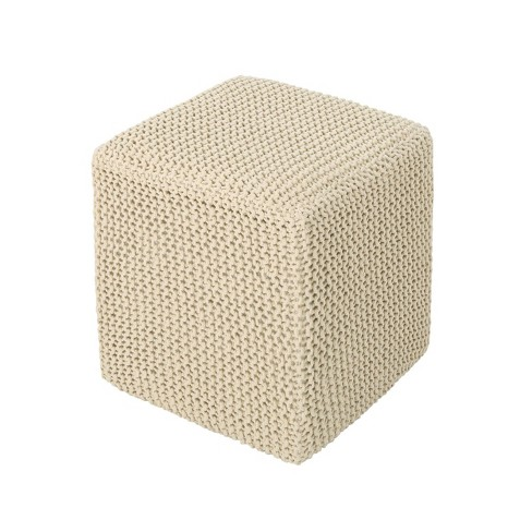 Tessie Knitted Foot Stool - Christopher Knight Home - image 1 of 4