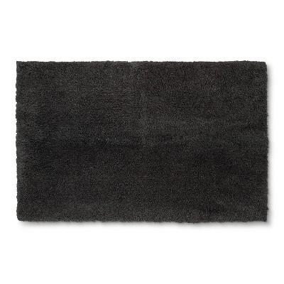 38 x24  Tufted Spa Bath Rug Dark Gray - Fieldcrest®