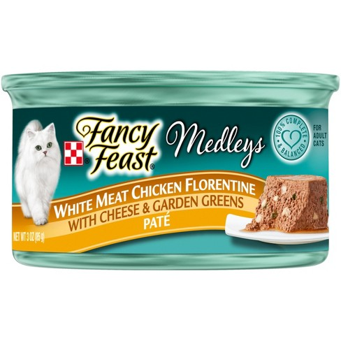 Purina® Fancy Feast Medleys White Meat Chicken Florentine Pate w/ Cheese & Garden Greens Wet Cat Food - 3oz Can - image 1 of 4