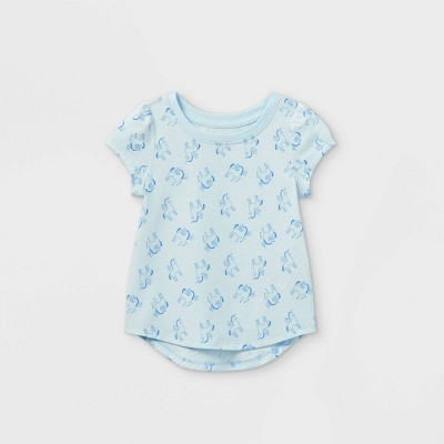 Toddler Girls' Unicorn Short Sleeve T-Shirt - Cat & Jack™ Blue