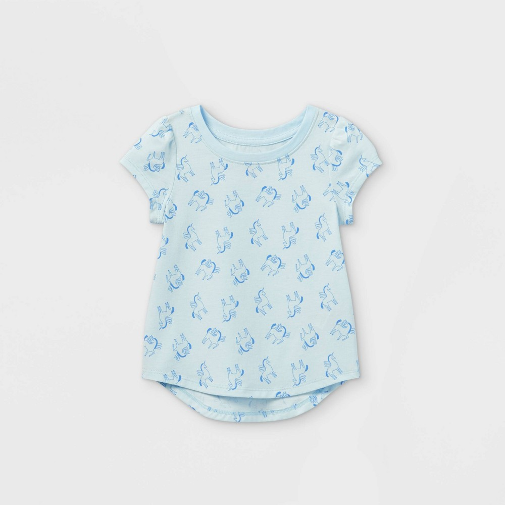 Toddler Girls 39 Unicorn Short Sleeve T Shirt Cat 38 Jack 8482 Blue 3t