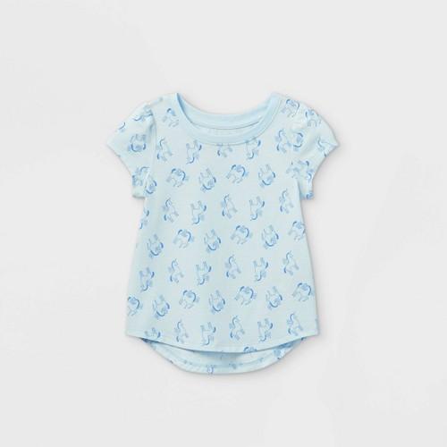 Toddler Girls Unicorn Short Sleeve T Shirt Cat Jack Blue 5T