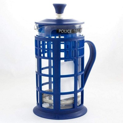 Seven20 Doctor Who 34oz Tardis French Press | Glass Carafe | Plunger | Filter