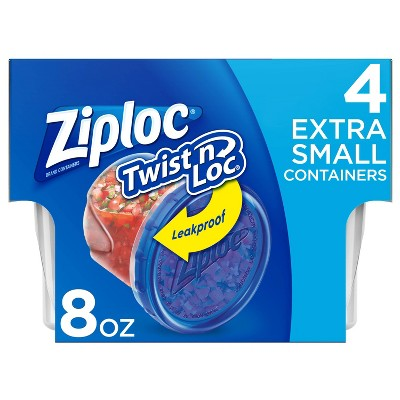 Ziploc Twist 'N Loc Container - 8oz