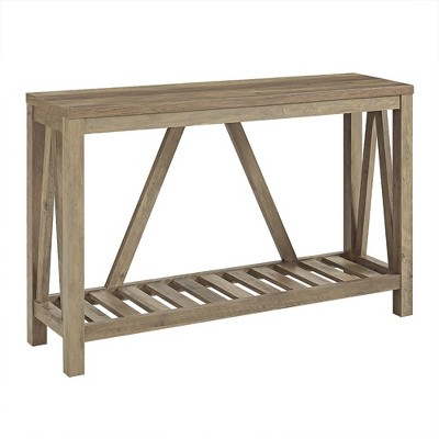 52  A Frame Rustic Entry Console Table Rustic Oak - Saracina Home