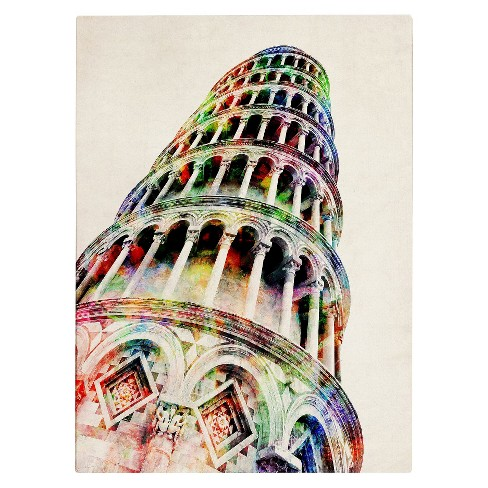 'Leaning Tower Pisa' by Michael Tompsett Ready to Hang Canvas Wall Art - image 1 of 2