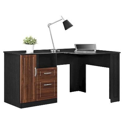 Borden Corner Desk   Cherry/Black   Room U0026 Joy : Target