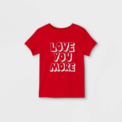 Toddler Boys' Valentine's Day 'Love You More' Graphic Short Sleeve T-Shirt - Cat & Jack™ Red