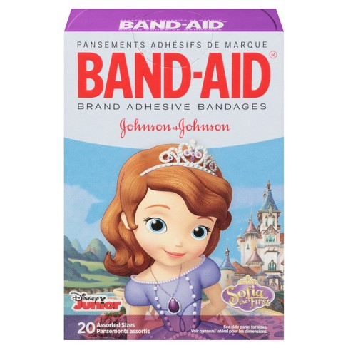 Band-Aid Sofia the First Adhesive Bandages - 20ct - image 1 of 8