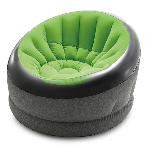 Intex Empire Indoor Inflatable Blow Up Dorm Room Lounge Air Chair, Lime Green - image 1 of 4