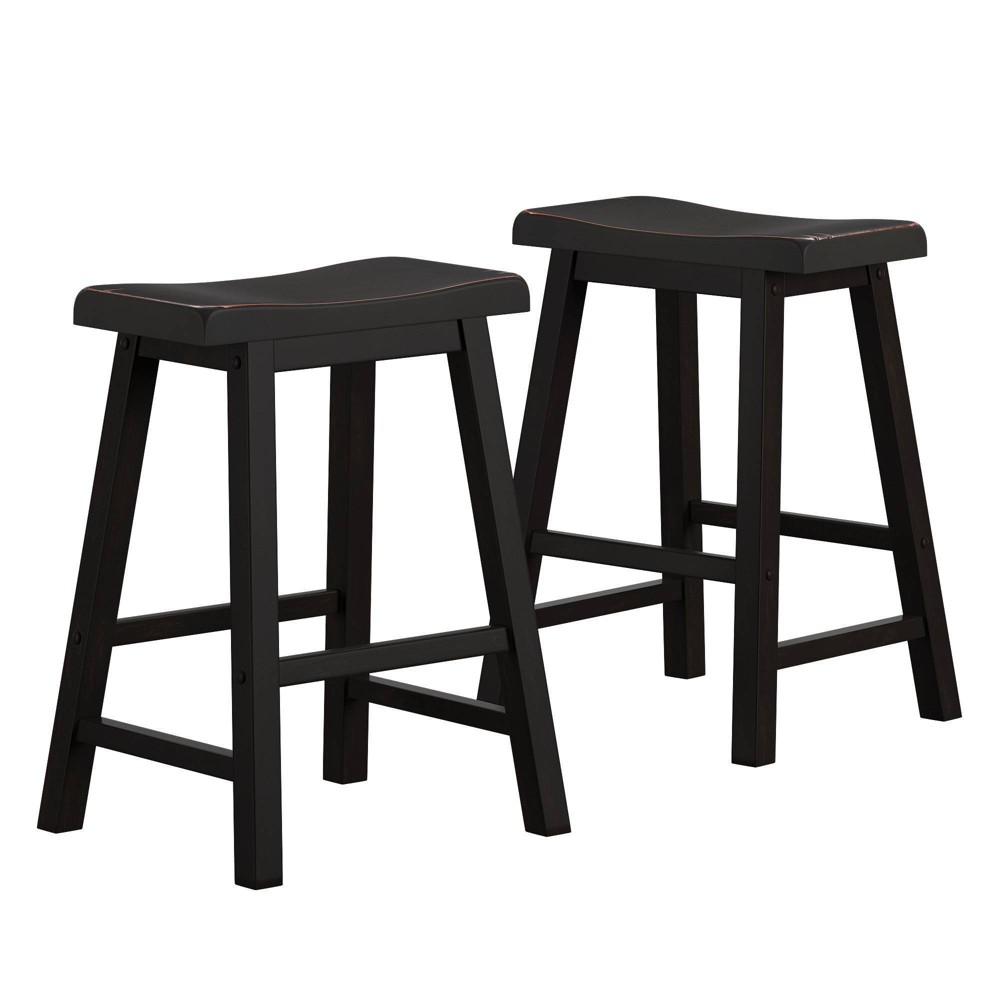 "Image of ""24"""" Rush Seat Hardwood Counter Stool Cappuccino - Boraam"""