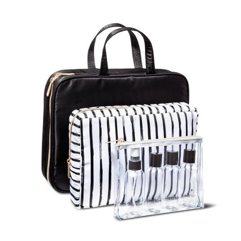 Sonia Kashuk™ Weekender Bag Set - Black/Stripe - image 1 of 3