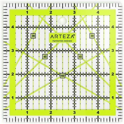 "Arteza Acrylic Quilter's Ruler, 5"" x 5"""