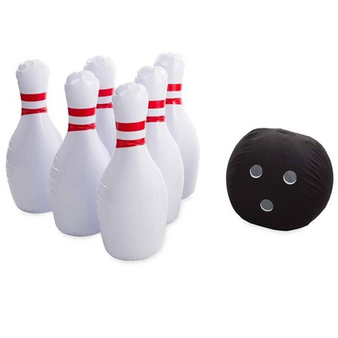"""Kids' Giant Indoor/Outdoor Inflatable Bowling Game With 29""""H Pins And 20""""Diam. Ball For Kids - Hearthsong - image 1 of 2"""