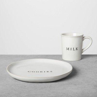 Cookie Plate & Milk Set Sour Cream - Hearth & Hand™ with Magnolia