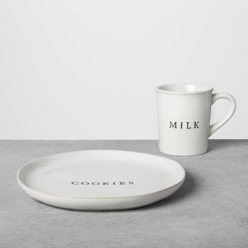 Cookie Plate & Milk Set Sour Cream - Hearth & Hand™ with Magnolia - image 1 of 2