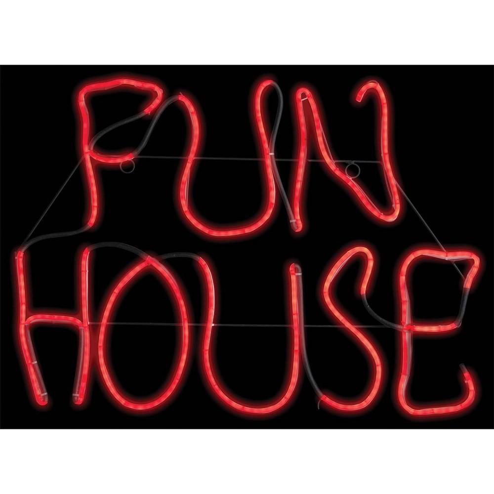 "Image of ""17"""" Halloween Fun House Glow Light Sign"""