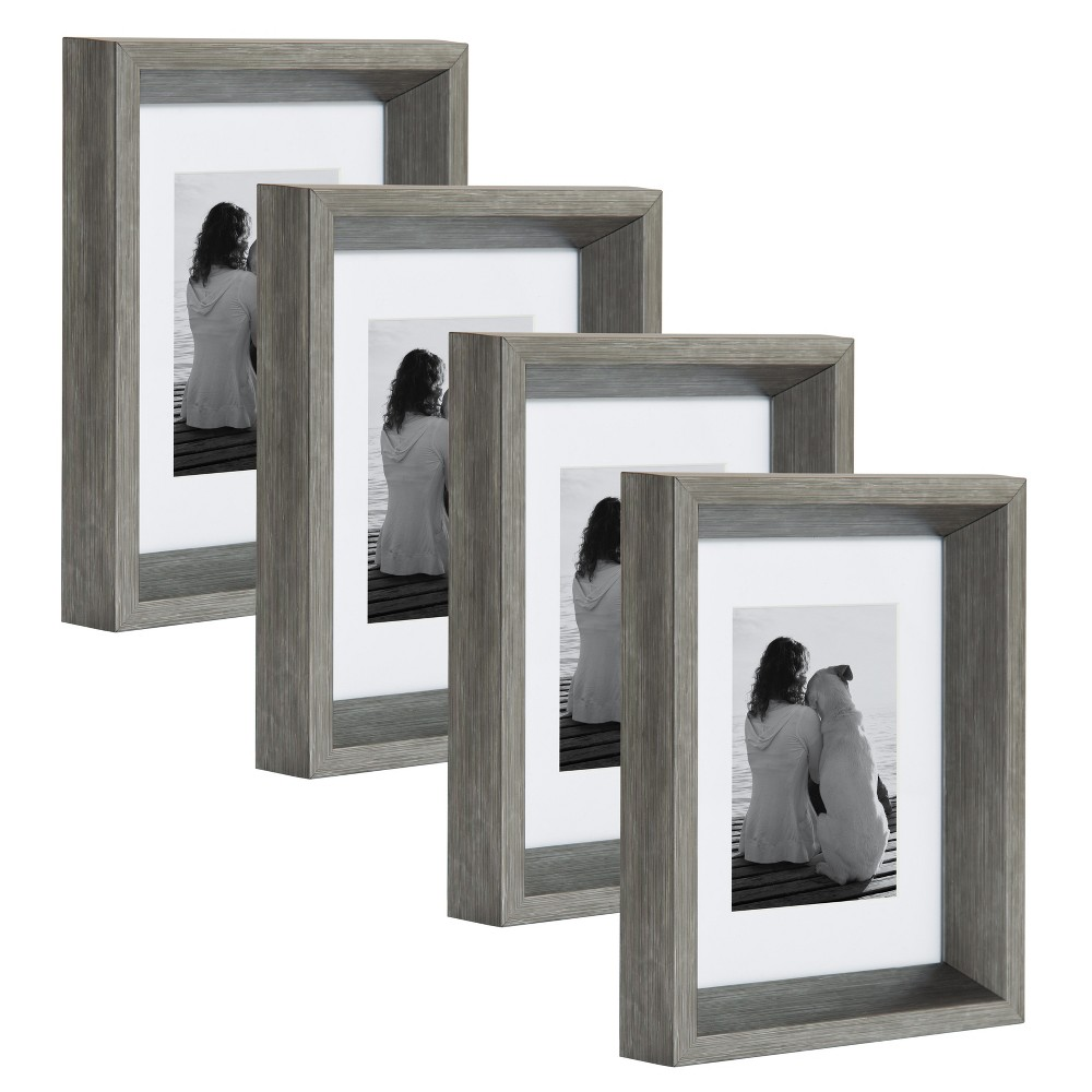 "Image of ""5""""x7"""" Calter Photo Frame Set Silver - Kate & Laurel All Things Decor"""