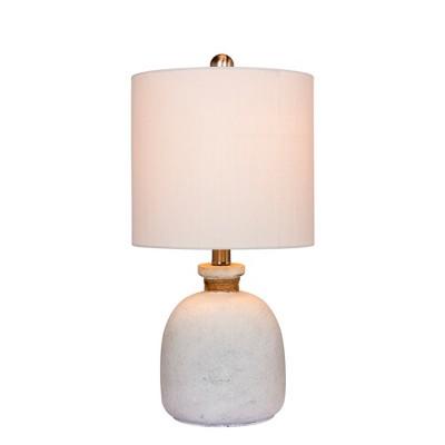 Coastal Glass Table Lamp White - Fangio Lighting