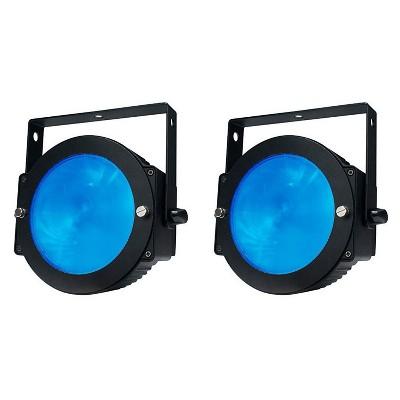 ADJ DOTZ-PAR 36 Watt High Output Slim Par Can Wash Effect LED Light with 35 Built-In Color Macros (2 Pack)