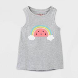 Toddler Girls' Watermelon Rainbow Tank Top - Cat & Jack™ Gray